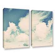 ArtWall Clouds on a Beautiful Day by Elena Ray 2 Piece Painting Print on Wrapped Canvas Set