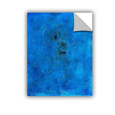 ArtWall Blue Grunge by Elena Ray Removable Painting Print; 18'' H x 24'' W WYF078278526223