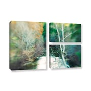 ArtWall Calm River by Elena Ray 3 Piece Photographic Print on Gallery-Wrapped Canvas Flag Set