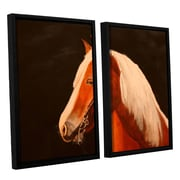 ArtWall Horse Painted by Lindsey Janich 2 Piece Floater Framed Painting Print on Canvas Set