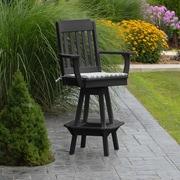 A&L Furniture 29'' Swivel Bar Stool; Aruba Blue