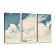 ArtWall Clouds on a Beautiful Day by Elena Ray 3 Piece Painting Print on Gallery-Wrapped Canvas Set