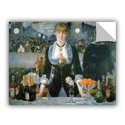 ArtWall A Bar At The Folies-Bergere by Edouard Manet Removable Painting Print; 18'' H x 24'' W