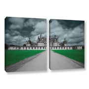 ArtWall Castle by Revolver Ocelot 2 Piece Graphic Art on Wrapped Canvas Set; 24'' H x 36'' W