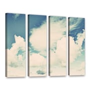 ArtWall Clouds on a Beautiful Day by Elena Ray 4 Piece Painting Print on Wrapped Canvas Set