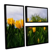 ArtWall Tulips by Lindsey Janich 3 Piece Floater Framed Photographic Print on Canvas Flag Set
