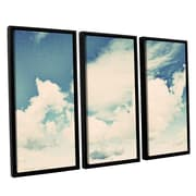 ArtWall Clouds on a Beautiful Day by Elena Ray 3 Piece Framed Painting Print on Canvas Set