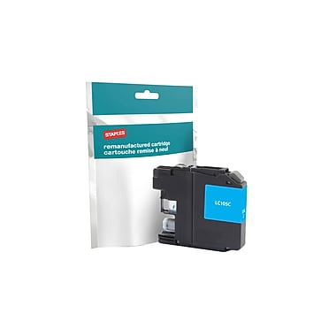 Staples Reman Cyan Ink Cartridge, Brother LC-105C XXL