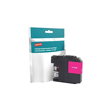 Staples Reman Magenta Ink Cartridge, Brother LC-105M XXL