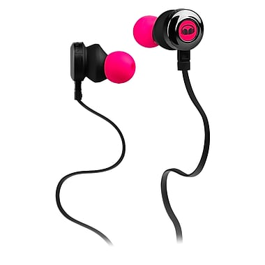 Monster® – Écouteurs intra-auriculaires Clarity HD™ haute performance, rose fluo