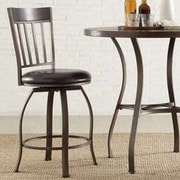 Kingstown Home Shayne 24'' Swivel Bar Stool with Cushion (Set of 2)