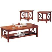 Wildon Home   Independence 3 Piece Coffee Table Set; Light Oak
