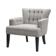 Madison Park Riveria Accent Club Chair; Light Grey/Black Noir