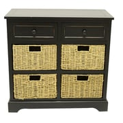 J. Hunt Home Montgomery 6 Drawer Chest; Eased Edge Black