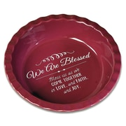 Abbey Press We Are Blessed Deep Dish Pie Plate