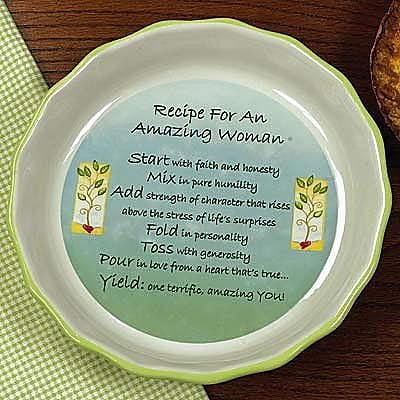 Abbey Press Amazing Woman Pie Plate image