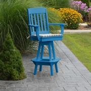 A&L Furniture 29'' Swivel Bar Stool; Blue