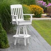 A&L Furniture 29'' Swivel Bar Stool; White