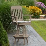 A&L Furniture 29'' Swivel Bar Stool; Weathered Wood
