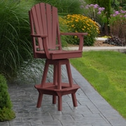 A&L Furniture 29'' Swivel Bar Stool; Cherrywood