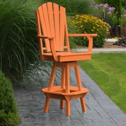 A&L Furniture 29'' Swivel Bar Stool; Orange
