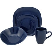Lorren Home Trends Morella 16 Piece Dinnerware Set; Blue