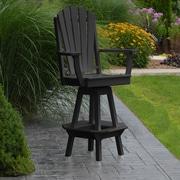 A&L Furniture 29'' Swivel Bar Stool; Black