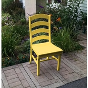A&L Furniture Poly Dining Side Chair; Lemon Yellow