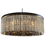 LightUpMyHome D'angelo 12 Light Drum Pendant; Smoked Glass
