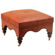 Peninsula Home Guell Leather Ottoman