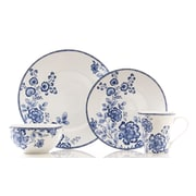 222 Fifth Tracy Blue 16 Piece Dinnerware Set