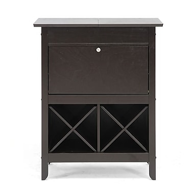 Baxton Studio Tuscany Modern Dry Bar and Wine Cabinet, Brown