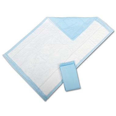 Protection Plus® Fluff-filled Underpads, Blue, 24