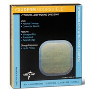 "Exuderm® Odorshield Hydrocolloid Dressings, 6 1/2"" L x 6 2/5"" W  , 5/Box"