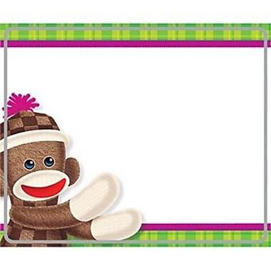 Trend Enterprises® PreKindergarten - 5 Grade Name Tag, Sock Monkeys