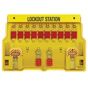 Master Lock® Safety Series™ 1483BP1106 Multilingual Padlock Station, 10 Lock