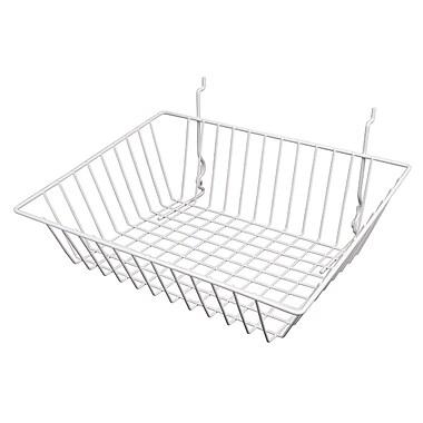 Econoco BSK16/W Sloping Basket, White, Semi-Gloss
