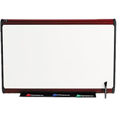 Quartet® Prestige Plus® DuraMax® Porcelain Dry-Erase Board with Mahogany Finish Frame, 3'x2'
