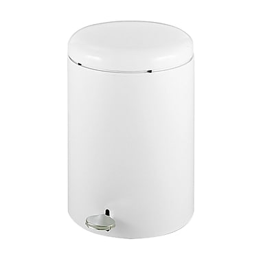 Safco Step-On Waste Receptacles, Fire-safe, 4 gal.