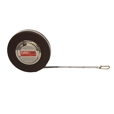 Lufkin® Anchor Brand® Chrome Clad® B5 Steel Single Side Measuring Tape, 50 ft(L) x 3/8 in(W) Blade