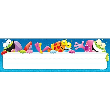 Trend® Desk Toppers® Kindergarten - 4th Grades Name Plate, Frog Tastic