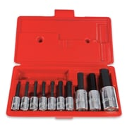 Proto® 10 Pieces Ball Locking Hex Bit Set, 3/8 and 1/2 in Square Drive