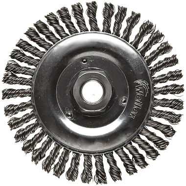 Dualife® 5 in (OD) 3/16 in (W) Face Stringer Bead Wire Wheel Brush, 0.02 in Wire, Steel