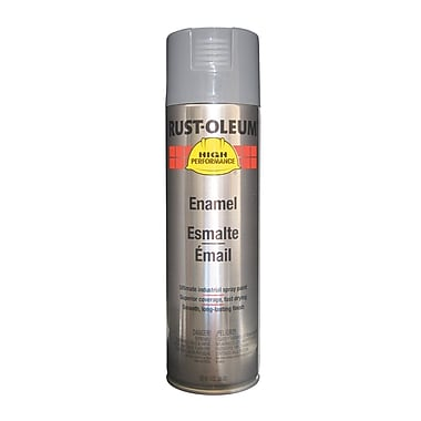 HIGH PERFORMANCE® 15 oz Aerosol Can Enamel, Acrylic, Dark Machine Gray, 14 sq ft Coverage