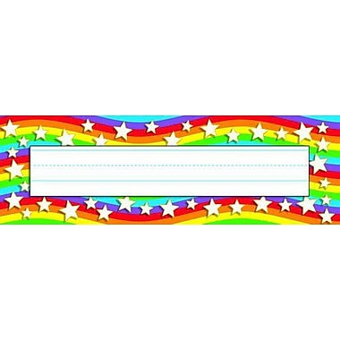 Trend® Desk Toppers® Kindergarten - 4th Grades Name Plate, Star Rainbow