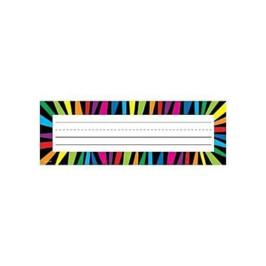 Creative Teaching Press™ Infant - 6th Grades Name Plate, Rainbow Stripes