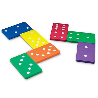 Learning Resources® Math Learning Game, Jumbo Foam Dominoes