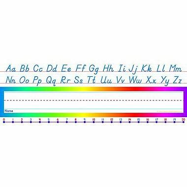 Teacher's Friend® 3rd - 6th Grades Name Plate, Alphabet-Number Line Modern