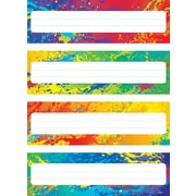 Trend Enterprises® Kindergarten - 4th Grades Name Plate, Splashy Colors