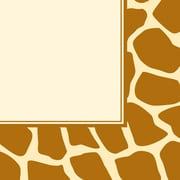 Creative Converting Giraffe Print 3-Ply Luncheon Napkins, 16/Pack